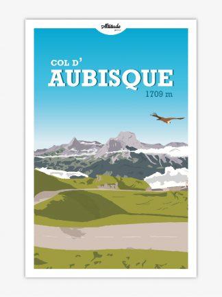 Affiche Col d'Aubisque Pyrénées
