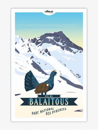 Affiche Pic du Balaïtous Parc National des Pyrénées