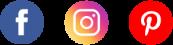réseaux sociaux facebook instagram pinterest