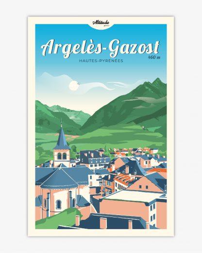 Affiche Argelès-Gazost Pyrénées