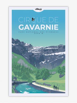 Affiche Cirque de Gavarnie Pyrénées