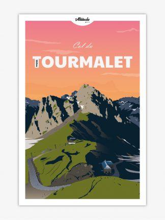 Affiche Col du Tourmalet Pyrénées