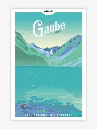 Affiche Lac de Gaube Pyrénées