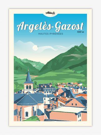 Carte postale Argelès-Gazost Pyrénées