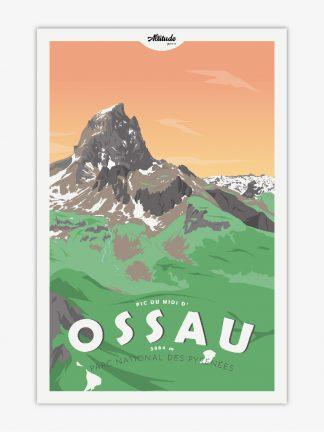Affiche Pic du Midi d'Ossau Pyrénées