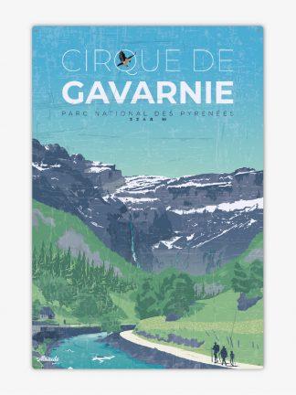 Plaque métal vintage Cirque de Gavarnie Pyrénées