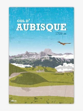 Plaque métal vintage d'Aubisque Pyrénées