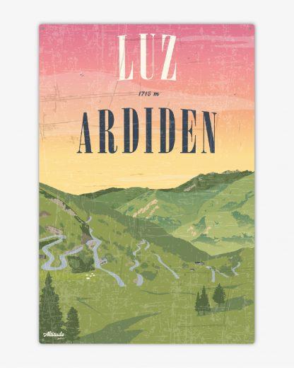 Plaque métal vintage Luz-Ardiden Pyrénées