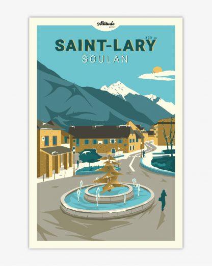 Affiche St Lary Soulan Pyrénées