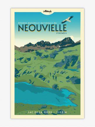 Affiche Néouvielle Lac de la Glère Pyrénées