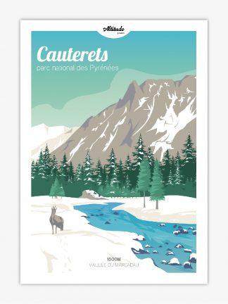 Carte postale Cauterets Parc national des Pyrénées