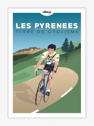 Carte postale Cyclisme Pyrénées