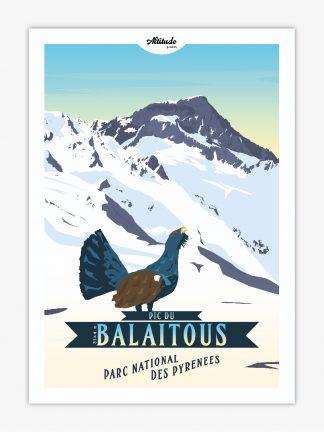 Carte postale Pic du Balaitous Parc national des Pyrénées
