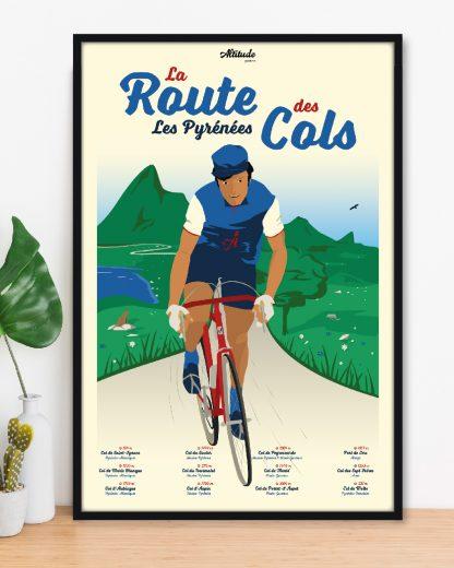 Affiche La Route des Cols Pyrénées